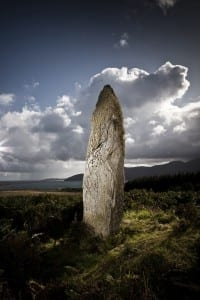 Standing stone at the Island of Jura