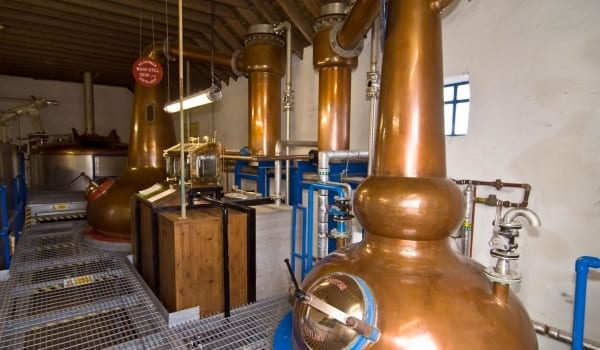 The stillhouse at the Killchoman distillery.