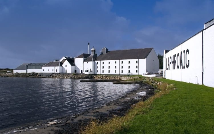 The Laphroaig distillery on the Isle of Islay