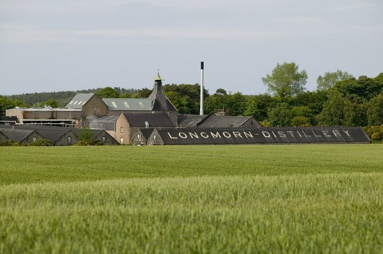 The Longmorn distillery in the Speyside region