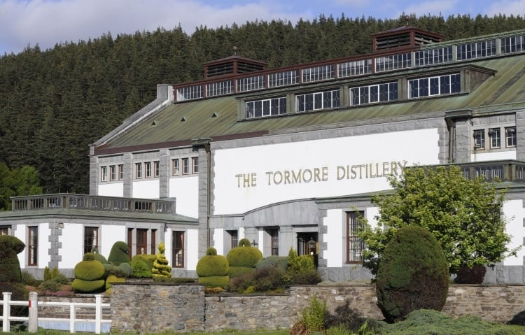 The Tormore Distillery in the Speyside